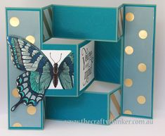 Stampin Up, Swallowtail, Trifold card, Fancy Foil Vellum Tri Fold Cards, Fancy Fold Cards, Folded Cards, Unique Cards, Cool Cards, Trifold Shutter Cards, Stampin Up Catalog, Making Greeting Cards, Butterfly Cards