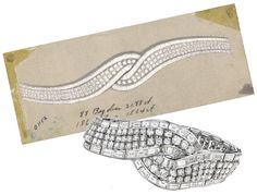 Suzanne Belperron diamond bracelet.  Celebrate your wedding with jewels from Renaissance Fine Jewelry in Vermont or www.vermontjewel.com