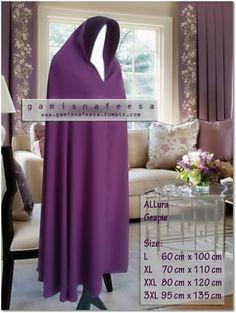-stiff hood -two toned -full length Hijab Niqab, Mode Hijab, Niqab Fashion, Muslim Fashion, Clothing Patterns, Sewing Patterns, Islamic Patterns, Hijab Tutorial, Islamic Clothing