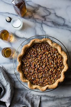 Bourbon Sorghum Pecan Pie {with a gluten-free sorghum crust}