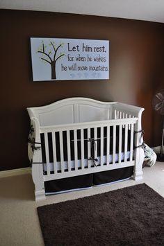 White furniture, baby boy
