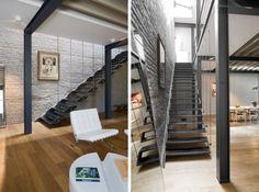 hängende Treppe Filigrane-Treppenstufen Maison-Franken | Interior ...