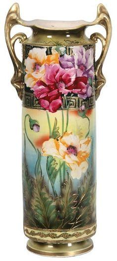 Vintage Nippon Poppy Vase.