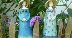 Aus Meisterhand liebevoll gefertigte Keramikdamen Handmodellierte Keramikobjekte in großer Auswahl zieren Ihren Garten auf vielfältige Weise.