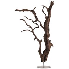 If you want a dramatic sculpture that can hold its own in almost any room, this is the piece. No two will be the same since these are made from roots and are 100% natural and hand assembled. This is a