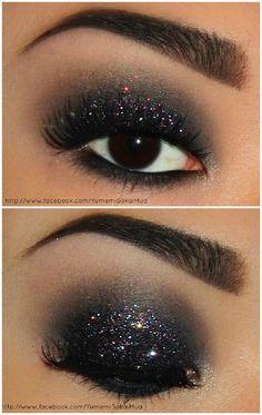 Black glittery eye