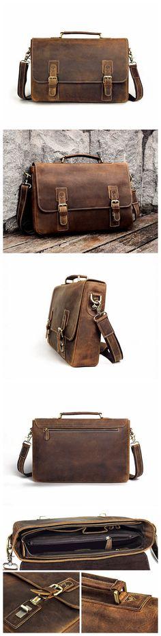 Leather Tote Bag Handmade Leather Bag Men Vintage Bag Leather Crossbody Bag Briefcase Messenger Bag Leather Shoulder Bag Ipad Laptop Bag