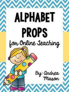 This pack of alphabet props is PERFECT for the online classroom! One set is full color and the other set is in black and white, so you can choose which to print! Each page has an uppercase and lowercase letter, plus pictures that begin with that letter. Efl Teaching, Teaching Career, Teaching Strategies, Teaching Tools, Teaching Resources, Teaching Ideas, Online Classroom, Classroom Setup, Vip Kid