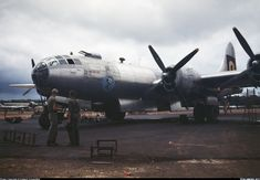 Boeing B-29 Superfortress. Гуам, 1945г.