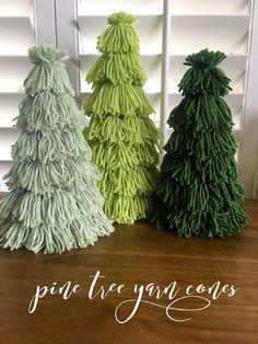 Christmas Tree Crafts, Rustic Christmas, Christmas Projects, Xmas Tree, Holiday Crafts, Christmas Holidays, Scandinavian Christmas, Cone Christmas Trees, Modern Christmas