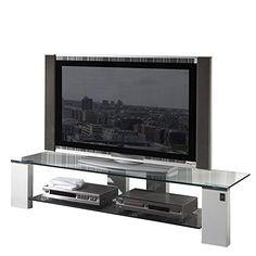 Lowboard nussbaum roller  trendteam SC85001 TV Möbel Lowboard, BxHxT 153 x 44 x 44 cm, Weiss ...