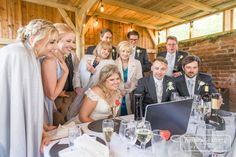 Intimate wedding party gathered round a laptoop hearing messages of love and support for married life. This was the early 2021 wedding trend! Wedding Trends, Wedding Venues, Married Life, Love Messages, Party, Photography, Wedding Reception Venues, Wedding Places, Photograph