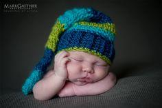 www.markgauthierphotography.com  Newborn Boy Photography  Crochet Hat by Rosie's Rags