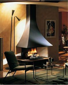 フードタイプ暖炉「ジュリエッタ 985 壁付きモデル」