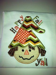 Happy Fall Yall Custom Shirt or Bodysuit Boy by AuntieDonnas