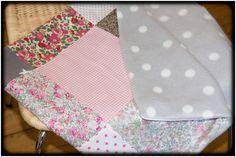 Couverture patchwork/ polaire