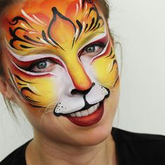 Fantasy Tiger Face Painting by Ashlea Henson