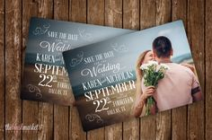 Vintage Beach Romantic Save the Date Magnet. You can customize the design with your photo, wording and colors. Size 4x6 or 4.25x5.5. Magnets