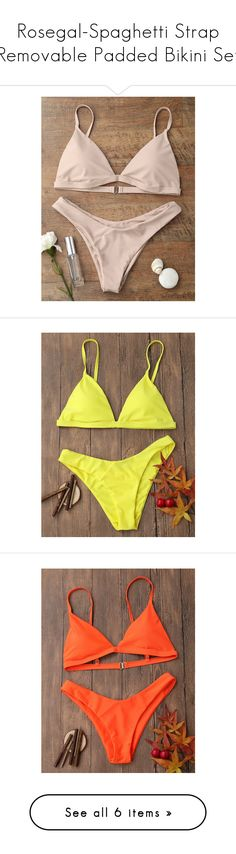 """""""Rosegal-Spaghetti Strap Removable Padded Bikini Set"""" by rosegal-official ❤ liked on Polyvore featuring bikini, swimwear, bikinis, padded swimwear, spaghetti strap bikini, bikini swimwear, bikini swim wear, padded bikinis, bikini beachwear and bikini two piece"""