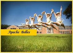 Apache Belles Dance Captains flying in the air!