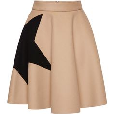 MSGM Star Intarsia Wool Felt Circle Skirt ($415) ❤ liked on Polyvore featuring skirts, bottoms, high rise skirts, wool skirt, circle skirt, high waisted mini skirt et flared mini skirt