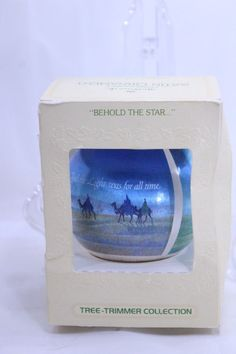 Hallmark Behold The Star Ball Tree Trimmer Ball Ornament 1979