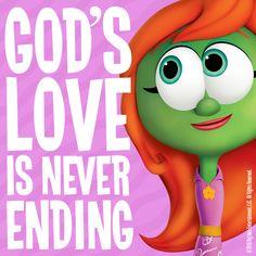 God's Love is Never Ending! #VeggieTales