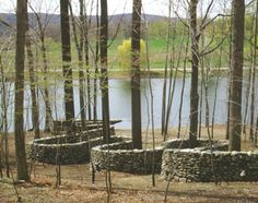 The Andy Goldsworthy wall at Storm King Art Center, New York.