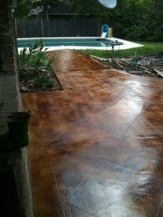 Stained Concrete Patio | Colored Concrete Baton Rouge | Stained Concrete  Baton Rouge | Concrete .