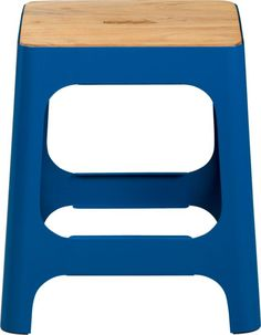 hitch peacock blue stool in dining chairs, barstools | CB2