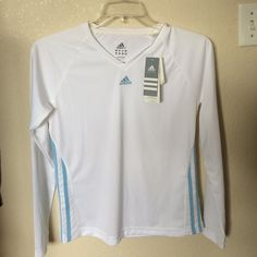 NWT long sleeve slim fit workout shirt Brand new Adidas Tops
