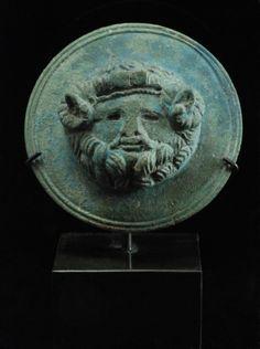 Bronze Phalera with Zeus Ammon  Roman Empire, c. 2nd Century AD