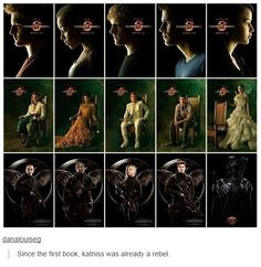 Since the first book, Katniss was already a rebel