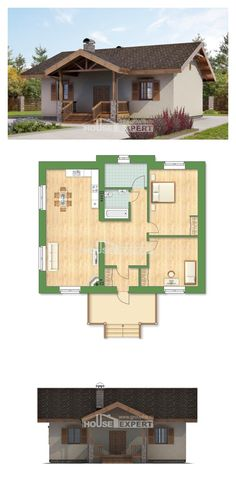 One Story House Plans, economical Plans To Build, House Expert Tiny House Cabin, Cottage House Plans, Dream House Plans, Small House Plans, House Floor Plans, Container Home Designs, Affordable House Plans, Compact House, Small House Design