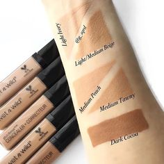 Wet n wild photo focus concealer swatches Drugstore Makeup Dupes, Makeup Swatches, Wet And Wild Foundation, Wet N Wild Beauty, High End Makeup, Makeup For Beginners, Aesthetic Makeup, Free Makeup, Best Makeup Products