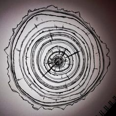 Tree Ring doodle by Bailey Ostrom