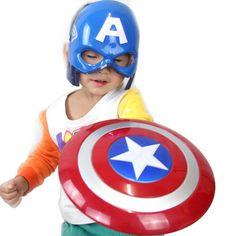 2016 Avengers Captain America Hero Shield Light-Emitting 30cm   Captain Mask