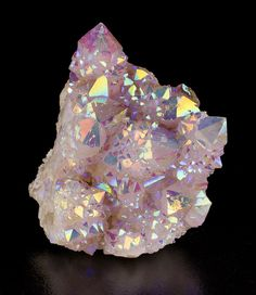 Rainbow Spirit Quartz ~ South Africa (Rainbow quartz is quartz that has been enhanced with a combination of titanium and niobium.)