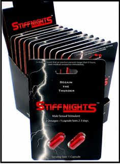 Stiff Nights act as the perfect male sex enhancement pill overcoming all other methods to treat sexual problems. The makers of this pill have used the natural and proven herbs which include aphrodisiacs & herbs. @ http://www.pillsforneed.com/sex-pill-make-penis-bigger/stiff-nights-2-pills.html