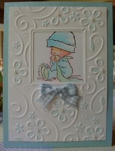Pretty sure I have this embossing folder. Perfect Perenniels by cuttlebug. One of the new ones.