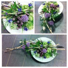 Flowers and twigs Flower Farm, Amazing Flowers, Driftwood, Flower Designs, Flower Arrangements, Succulents, Planters, Nice, Inspiration