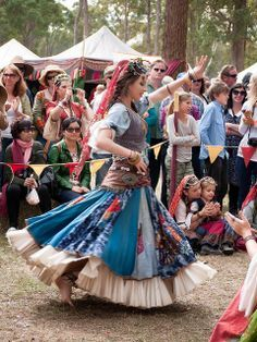Romany dancing. Look at that skirt!