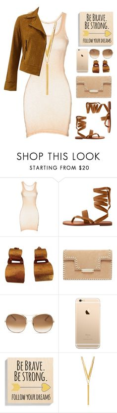 """Camel nude"" by liligwada ❤ liked on Polyvore featuring American Vintage, MANGO, Hervé Van Der Straeten, Chloé, Someday Inc., BERRICLE and Meteo by Yves Salomon"