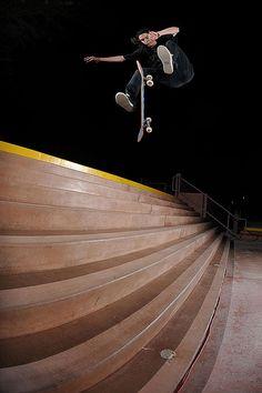 Straight skate boarder kyle
