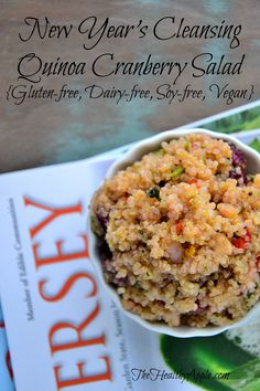 New Year's Cleansing Quinoa Cranberry Salad #vegan #glutenfree #quinoa