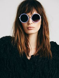 Twiggy Round Sunglass | Round sunnies with contrast plastic frames.     *By Free People