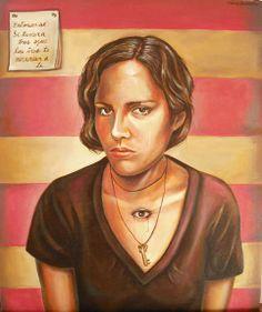 "Andrea Barreda   2009 - 2008 • ""Carina"" Acrylics on canvas - 50 x 65 cm"