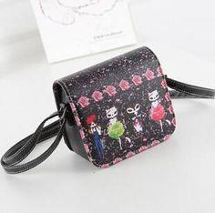Shoulder Bags PU Leather Cat Wearing Big Glasses L4-1186 Handbags