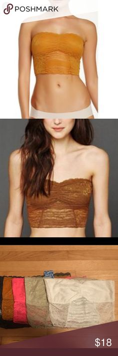 NWT Free People Galloon Lace Crop Bandeau NWT Free People Galloon Lace Crop Bandeau Bra.   Size- XS Color- Amber   *Available in other colors and sizes* Free People Intimates & Sleepwear Bandeaus