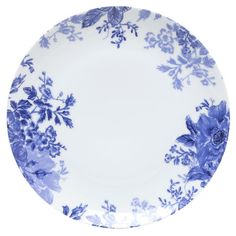 Add a classic touch to your tablescape with this lovely dinner plate, featuring a traditional floral motif in blue and white.   Pro...